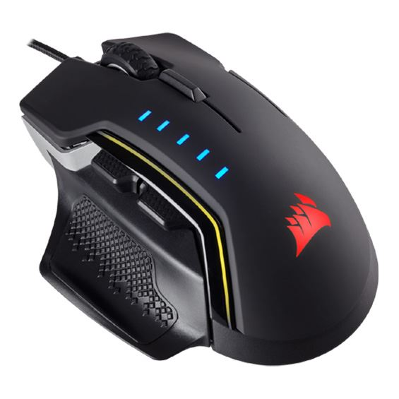 Picture of CORSAIR GAMING MICE GLAIVE RGB, ALUMINUM, OPTICAL, 16000DPI COR-MS-GLAIVE-RGBALU