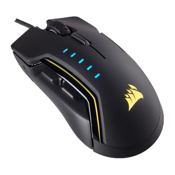 Picture of CORSAIR GAMING MICE GLAIVE RGB, BLACK, OPTICAL, 16000DPI COR-MS-GLAIVE-RGBBLK