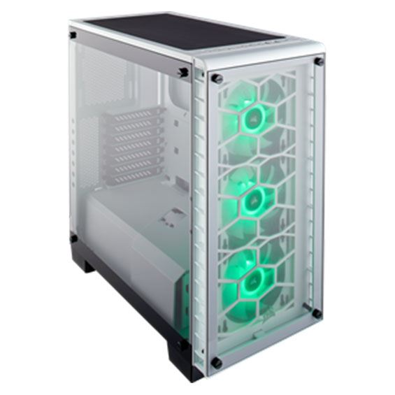 Picture of CORSAIR GAMING CASE CRYSTAL 460X RGB WHITE COR-GC-CRSTL-460X-RGBWHT