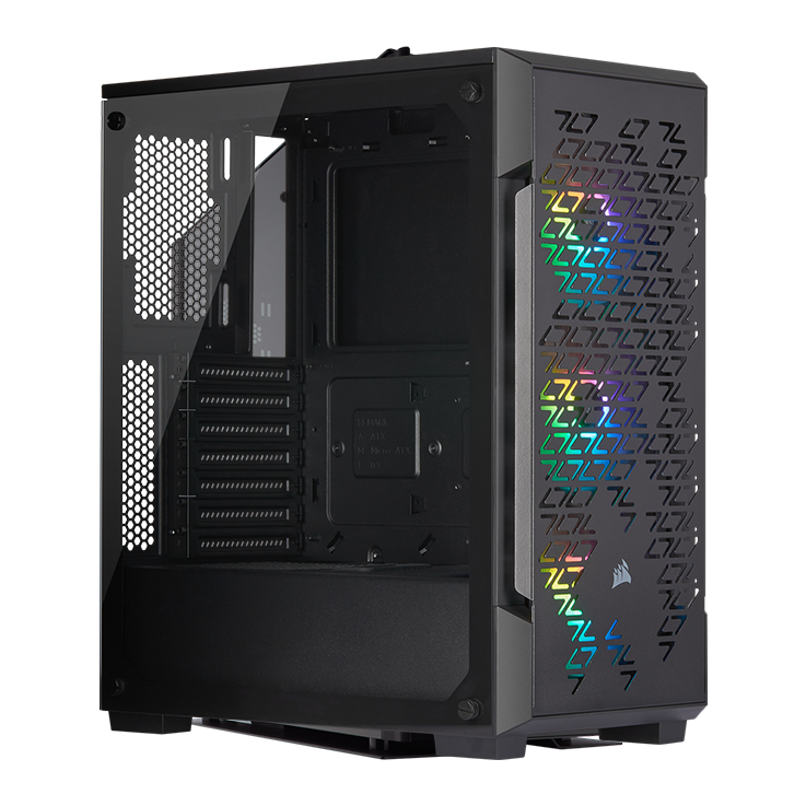 Picture of Corsair iCUE 220T RGB Airflow Tempered Glass Mid-Tower Smart Case - Black