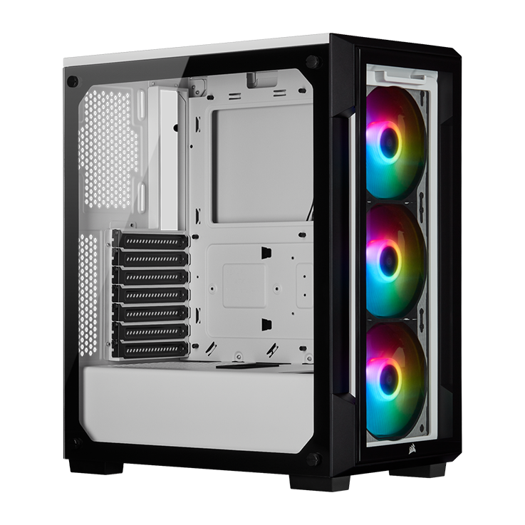 Picture of Corsair iCUE 220T RGB Airflow Tempered Glass Mid-Tower Smart Case - White
