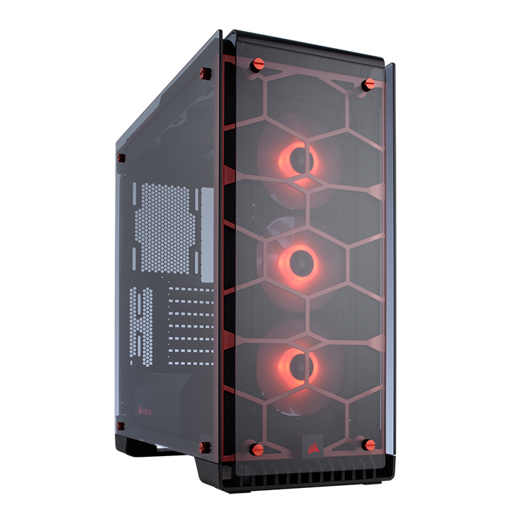 Picture of Corsair Crystal Series 570X RGB ATX Mid-Tower Case - Red