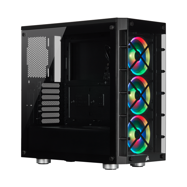 Picture of Corsair iCUE 465X RGB Mid-Tower ATX Smart Case - Black