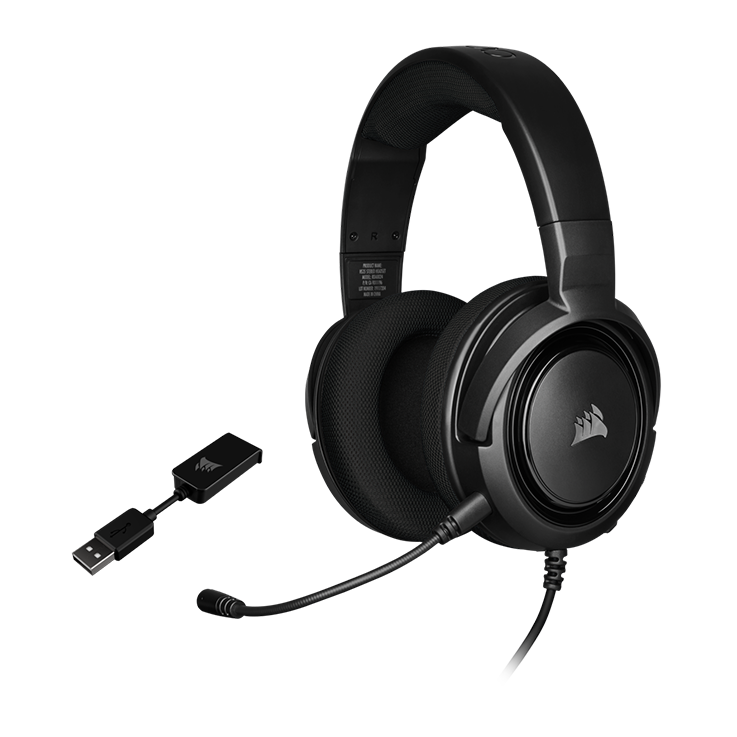 Picture of Corsair HS45 SURROUND Gaming Headset - Carbon