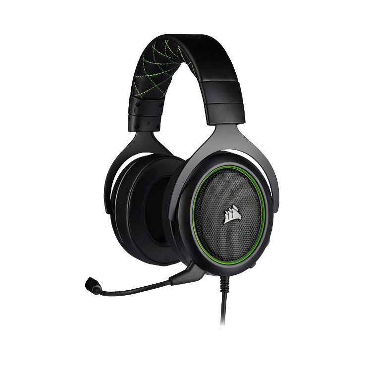 Picture of Corsair HS50 PRO STEREO Gaming Headset - Green