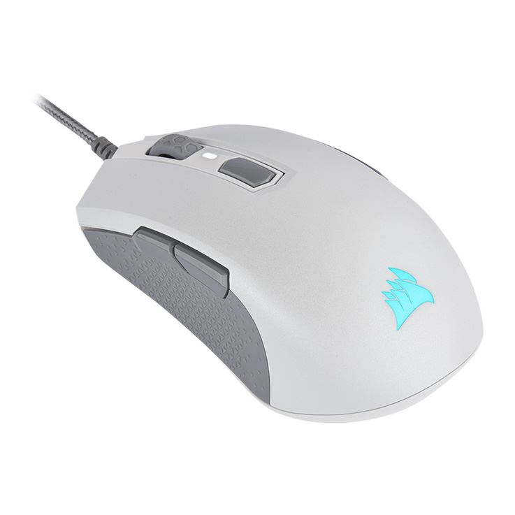Picture of Corsair M55 RGB PRO Ambidextrous Multi-Grip Gaming Mouse - White