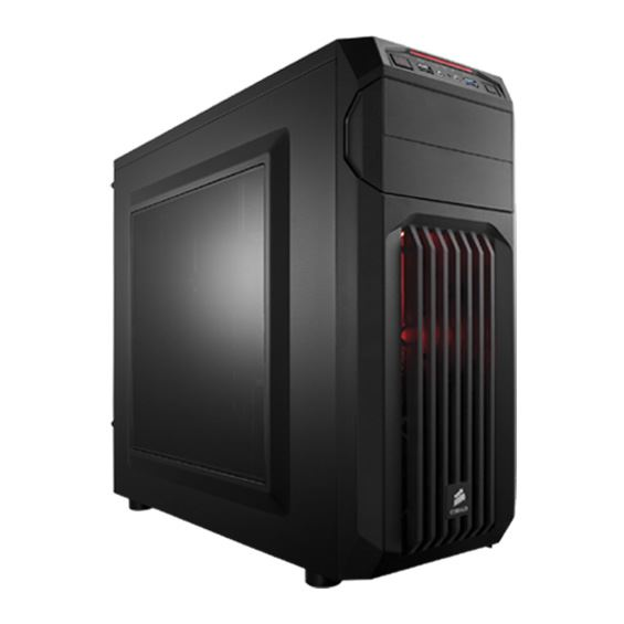 Picture of CORSAIR GAMING CASE SPEC-01 RED LED COR-GC-SPEC01-REDLED