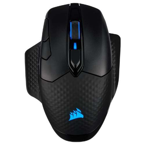 Picture of Corsair DARK CORE RGB PRO, Wireless FPS/MOBA Gaming Mouse with SLIPSTREAM Technology, Black, Backlit RGB LED, 18000 DPI, Optical