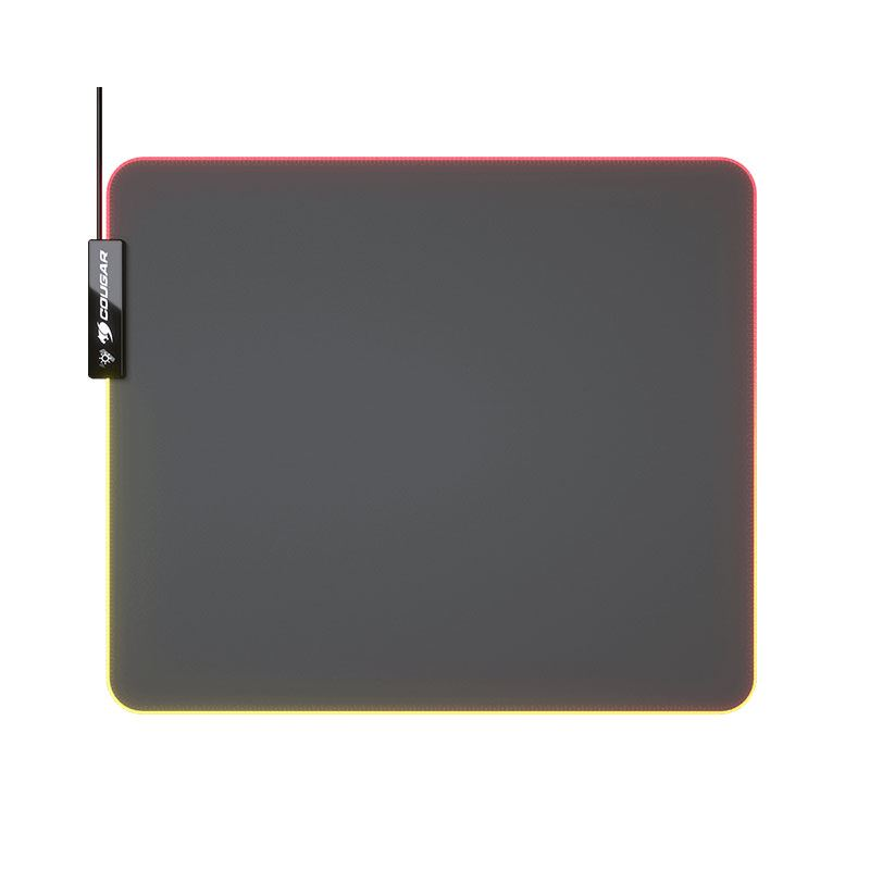Picture of Cougar Gaming Mouse Pad Neon, Cloth, RGB, Anti-Slip, 4mm Thick, Black - Medium