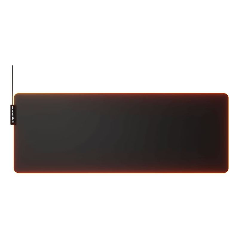 Picture of Cougar Gaming Mouse Pad Neon X, Cloth, RGB, Anti-Slip, 4mm Thick, Black - Extra-Large (XL)